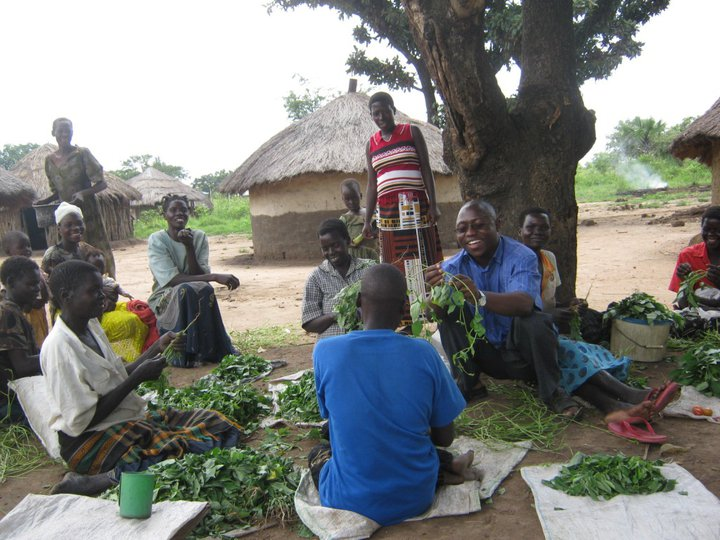 Obed Doing Community Sensitization For Women In Rural Kenya